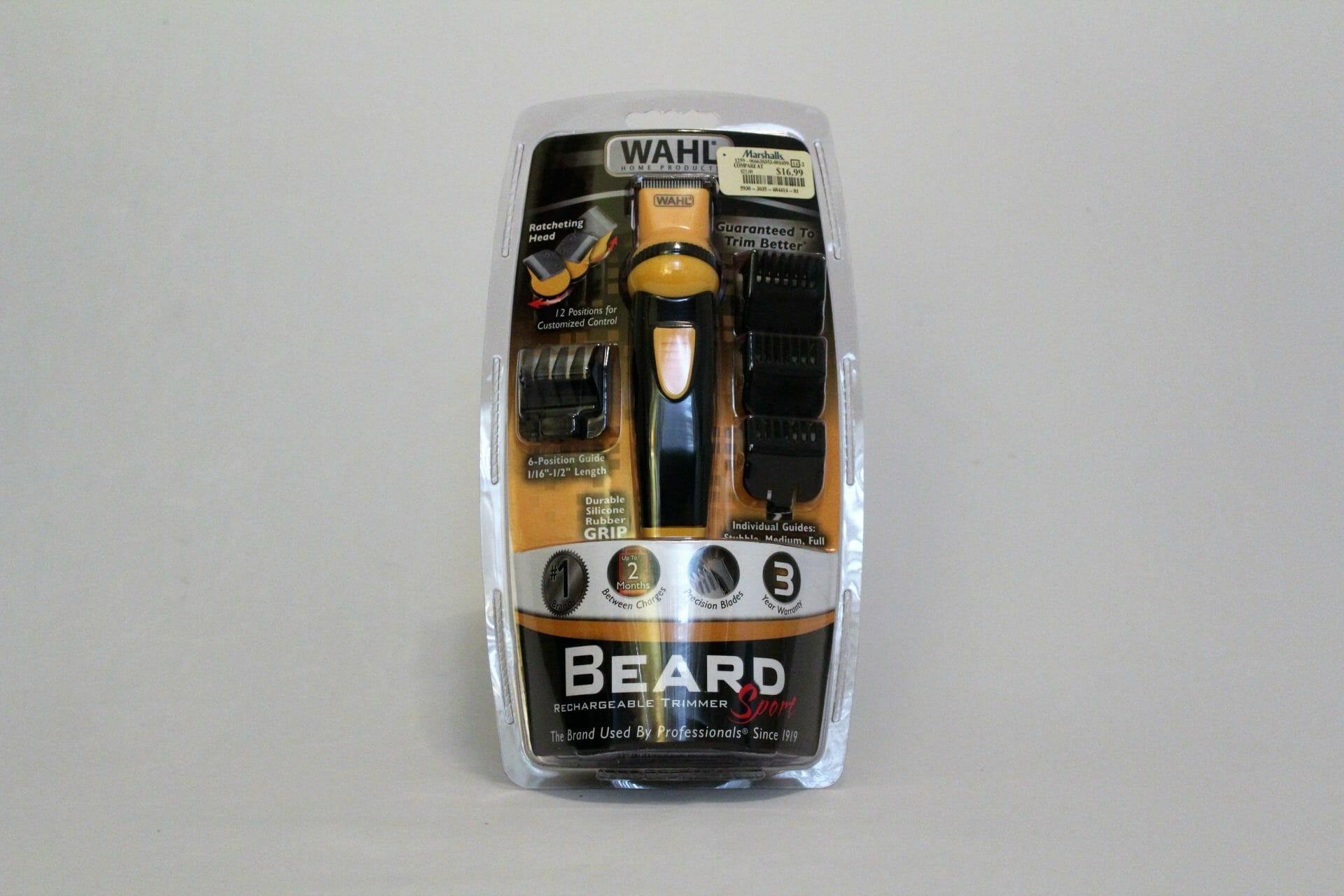 wahl beard rechargeable trimmer sport the brand used by. Black Bedroom Furniture Sets. Home Design Ideas